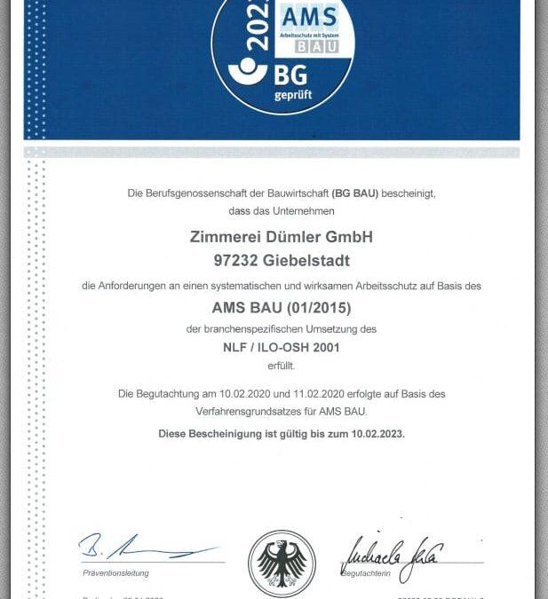 AMS Bau Zertifiziert
