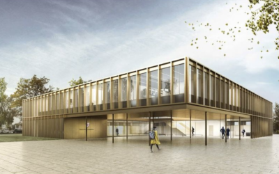 Auftrag für den Bau des Rathauses in Hainburg in Holzbauweise