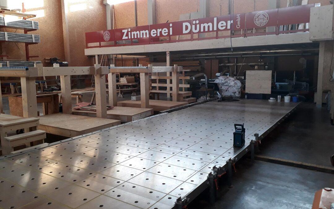 Umstrukturierung der Halle abgeschlossen
